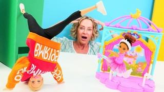 Puppen Video auf Deutsch. Barbie möchte Tanzlehrerin sein. Spielspaß mit Nicole