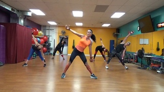 Yvette Bachman - Big Burn Cardio Kickboxing Class | Интенсивная кардио-тренировка (прыжки + кикбоксинг)