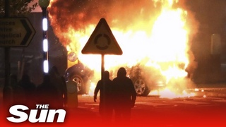 Fires rage in continued N Ireland unrest where youths threw gasoline bombs amid post-Brexit tensions