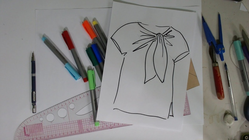 Блузка с бантом свободного покроя. Blusa con lazo corte relajado.