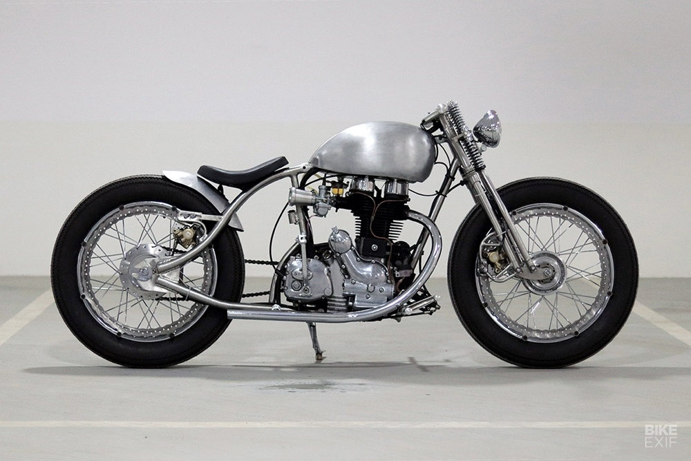 J&D Custom: боббер Royal Enfield Bullet Electra 350